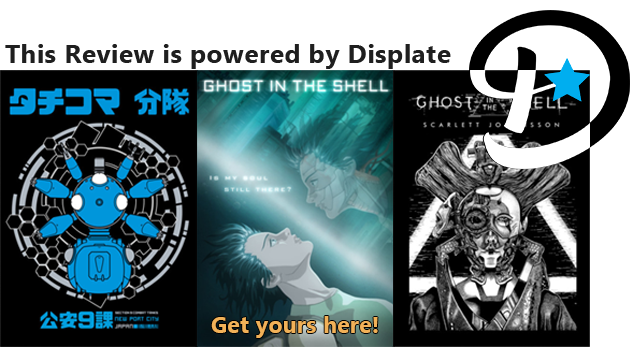 Ghost In The Shell Displates printed posters out of metal