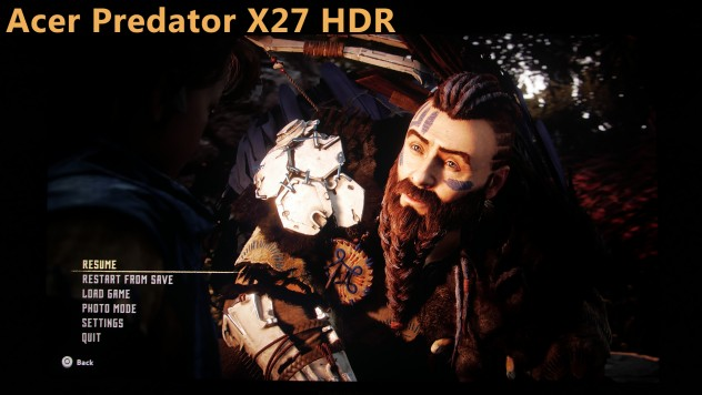 acer predator x27 hdr gameplay vs sdr