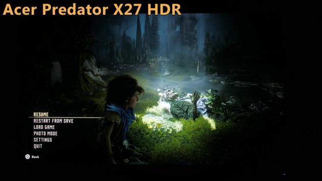 acer predator review 4k 144hz hdr vs sdr