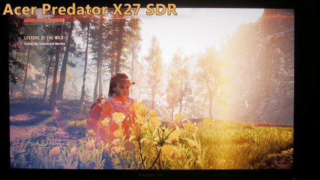 acer x27 sdr vs hdr comparison on the ps4