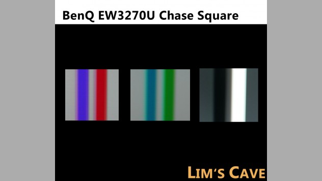 BenQ EW3270U Chase Square test to review and evaluate the overshot and smearing