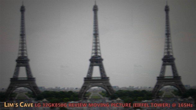 LG 32GK850G Eiffel Tower Artifacts Test